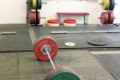 olympic-weightlifting-weights on platform